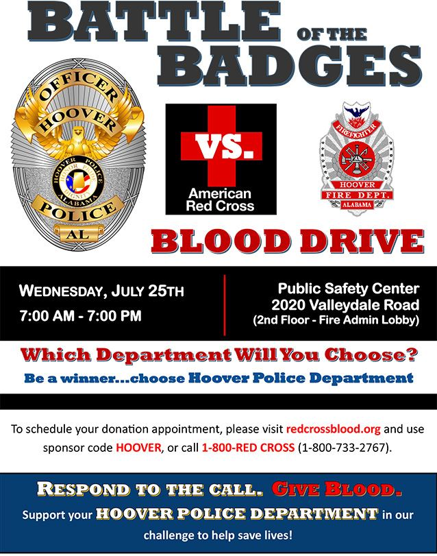 Battle of the Badges - Blood Drive Flyer